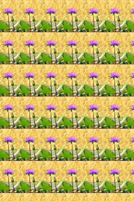 Vinylová Tapeta Lotosový květ se zlatým bokeh - Květiny