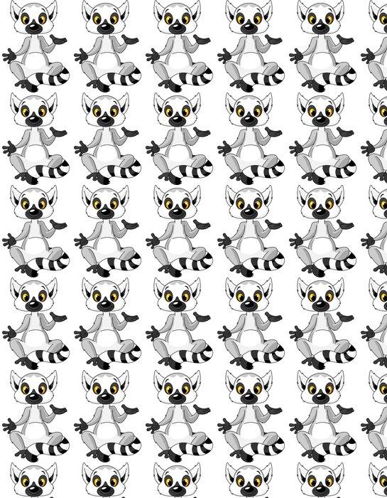 Vinylová Tapeta Sedící lemur vysvětlit - Savci
