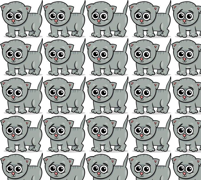 baby cat kitten cartoon illustration Vinyl Wallpaper - Wall decals