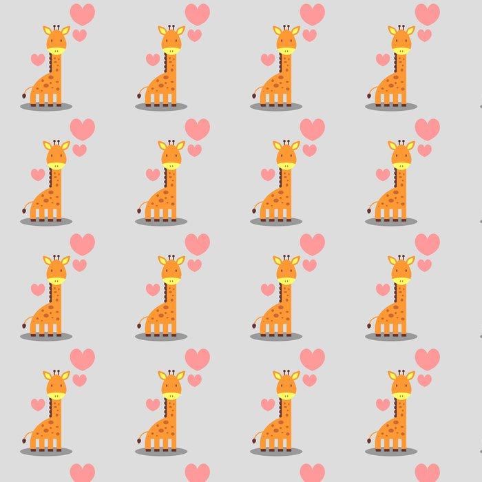 Vinylová Tapeta Roztomilá žirafa v lásce romantické obrázku - Mezinárodní svátky