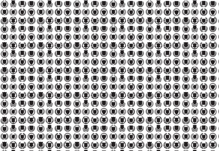 Vinylová Tapeta Středověké štíty a vavřínový věnec kolekce - Pozadí