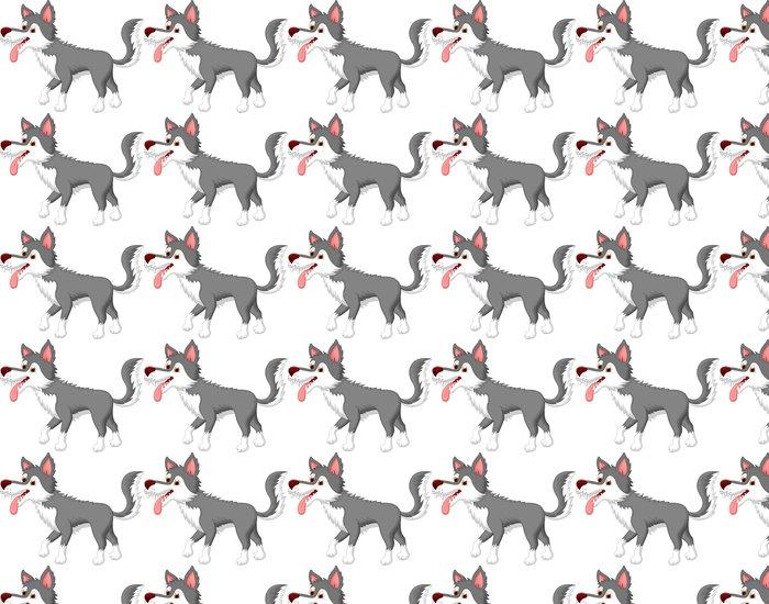 Vinylová Tapeta Roztomilý vlk karikatura - Savci