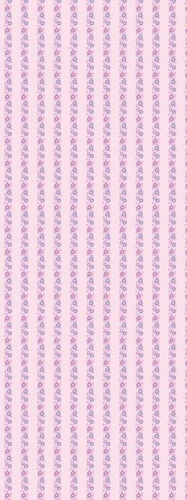 Vinylová Tapeta Vector Purple Blossom Vertikální bezešvé podtisk - Květiny