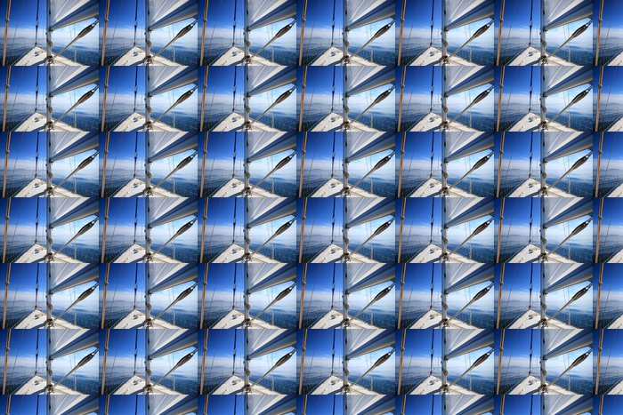 Vinylová Tapeta Plachetnice jachta plující v modré moře. Cestovní ruch - Témata