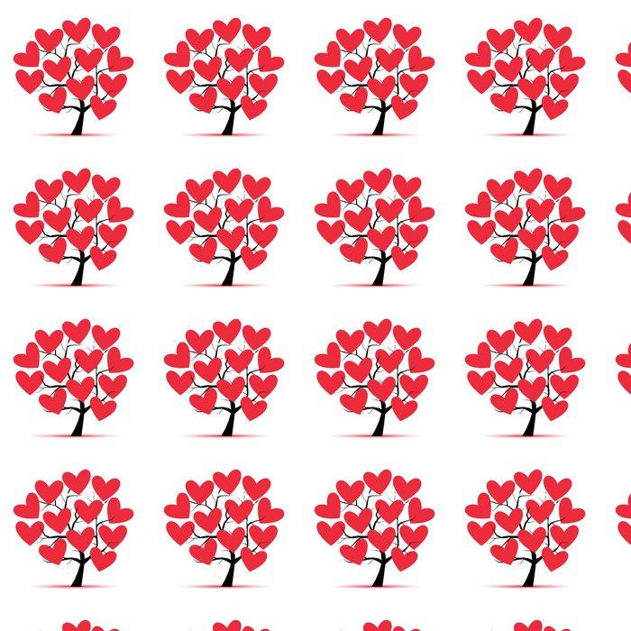 Vinylová Tapeta Láska strom se srdcem pro návrh - Stromy