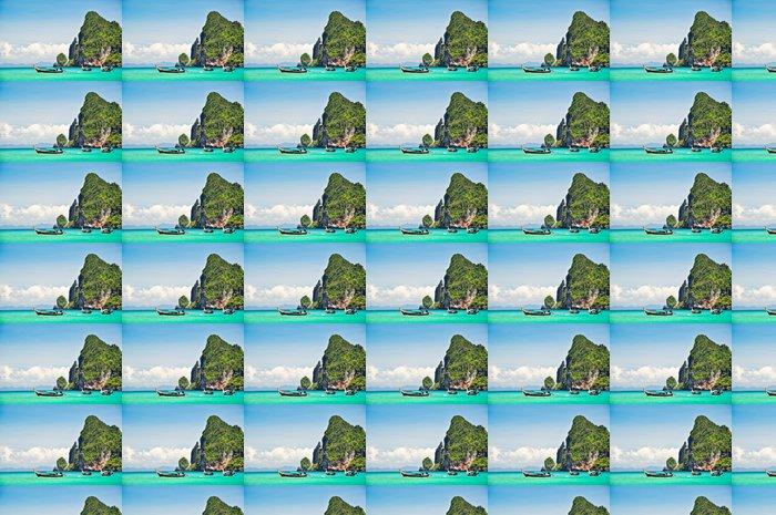 Vinylová Tapeta Pristine oceán a horské krajiny - Ostrovy