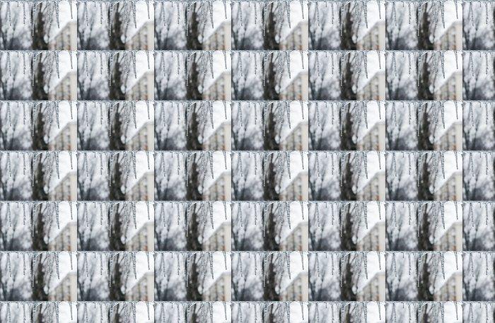 Vinylová Tapeta Rozmrazování rampouchy - Roční období