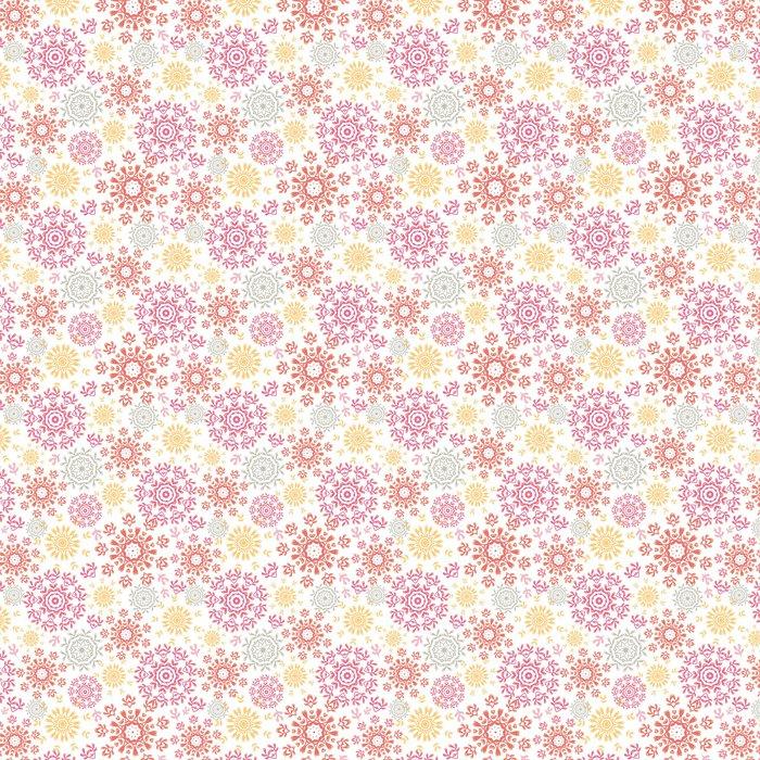 Vinylová Tapeta Abstraktní pozadí bezešvé vzor vektoru folk floral kruhy - Ekologie