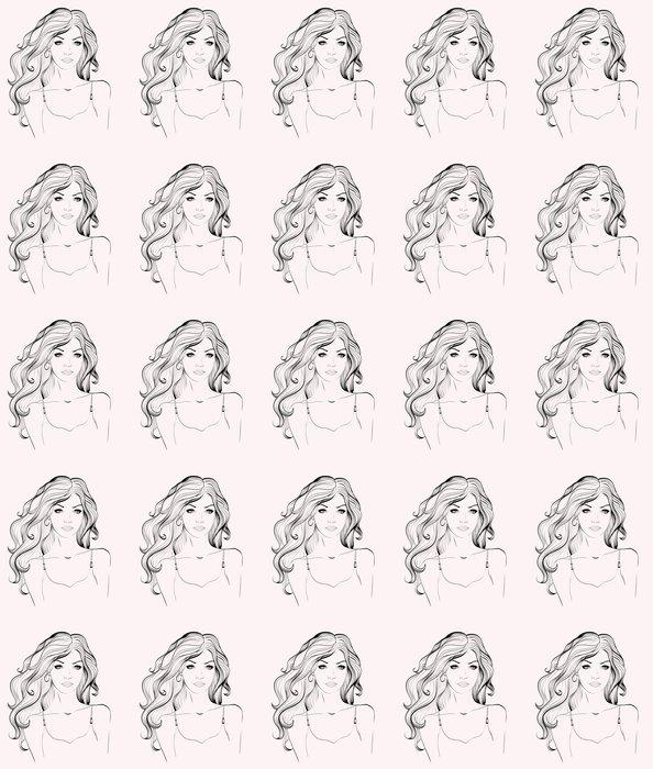 Vinylová Tapeta Abstraktní žena tvář - Témata
