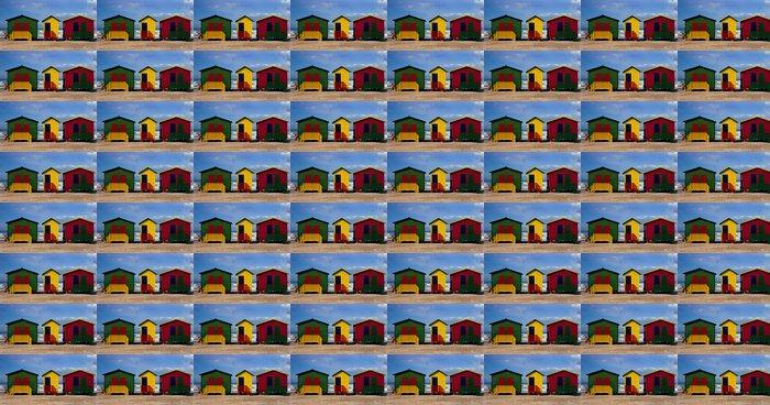 Vinylová Tapeta Barevné malované pláž chaty s osamělá postava zíral na oceán - Smutek