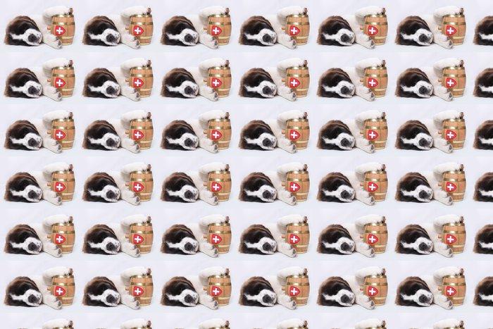 Vinylová Tapeta Světec Bernard štěně s záchranného barel kolem krku - Savci