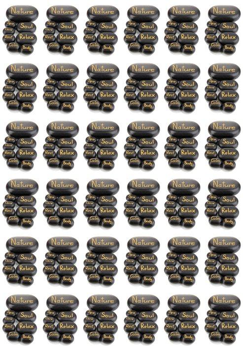 Vinylová Tapeta Lázeňské kameny izolovaných na bílém - Jiné objekty