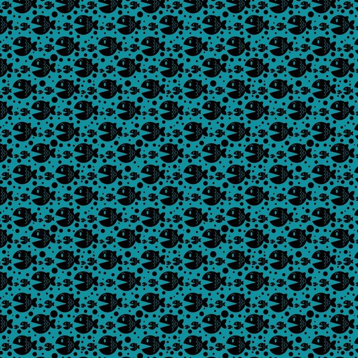 Vinylová Tapeta Bezešvé vzor s legrační ryby - Pozadí