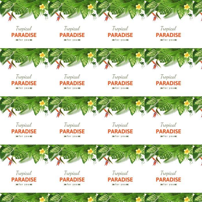 Vinylová Tapeta Tropické pozadí - Rostliny