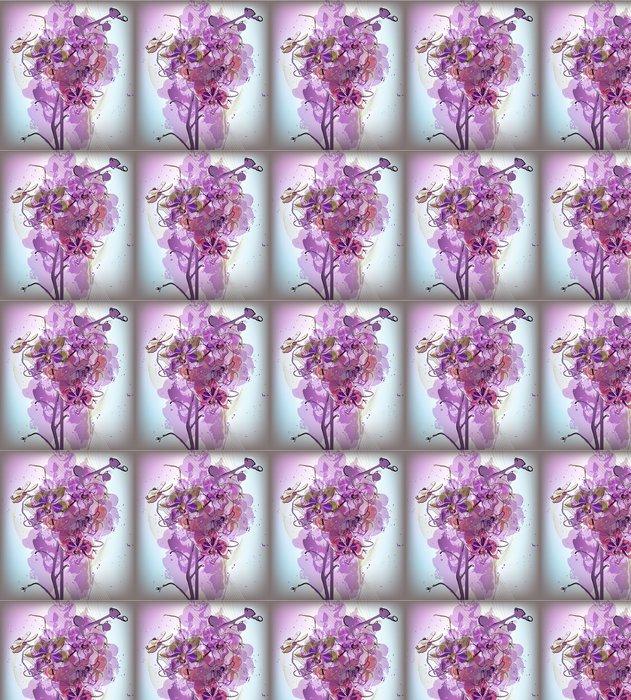Vinylová Tapeta Jemné lila kytice orchidejí - iStaging 2