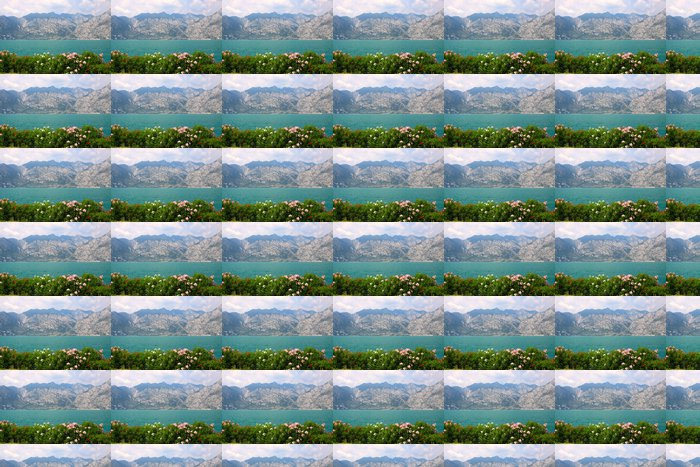 Vinylová Tapeta Panorama sur le lac de Garde et Limone sul Garda, Itálie - Evropa