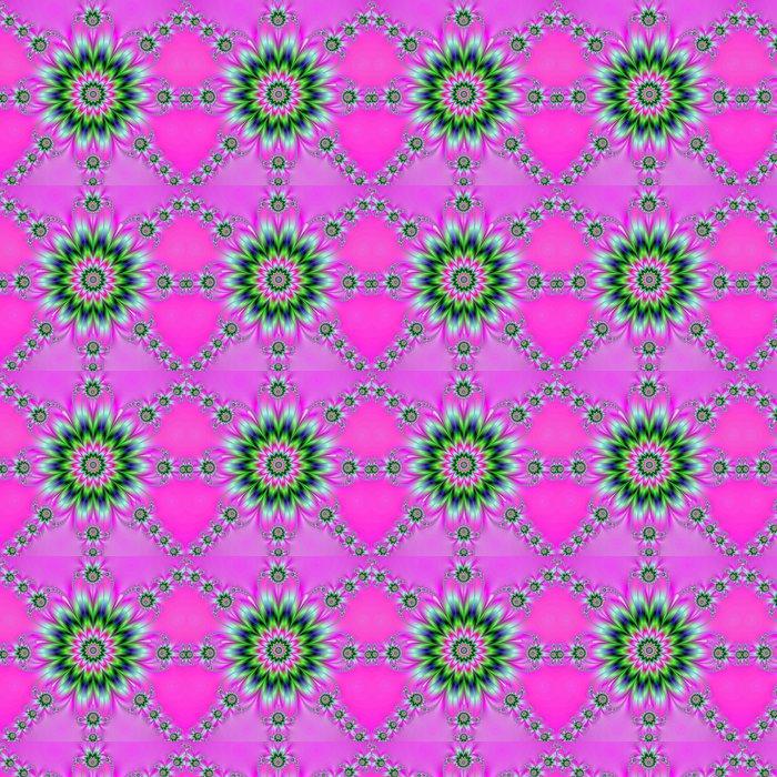 Vinylová Tapeta Rozeta na Pink - Abstraktní