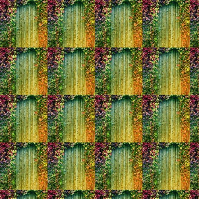 Vinyltapet Färgglada entrédörr - Naturens mirakel