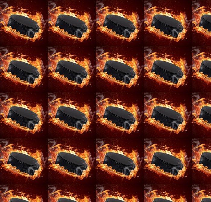 Vinylová Tapeta Hot puk při požárech plamene - Sportovní potřeby
