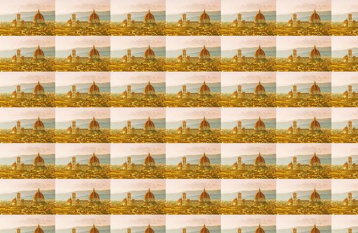 Vinylová Tapeta Florence, Katedrála Santa Maria del Fiore na západ slunce - Veřejné budovy