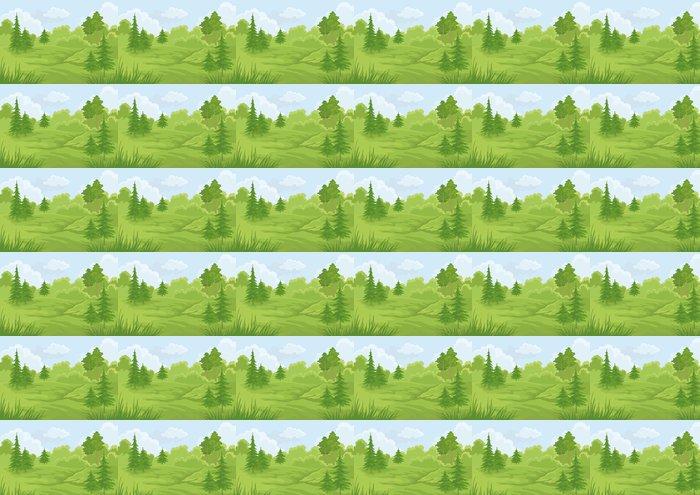 Vinylová Tapeta Krajina, letní les - Roční období