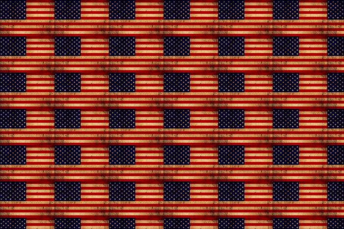 Vinylová Tapeta USA flag zrezivělý - Témata