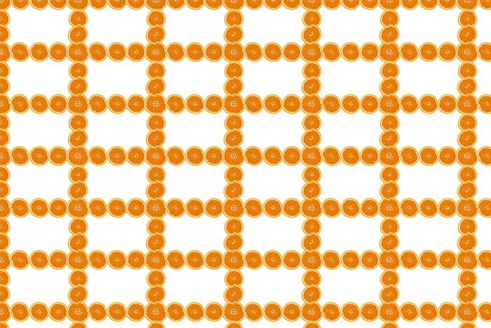 Vinylová Tapeta Дольки апельсина рамка - Ovoce