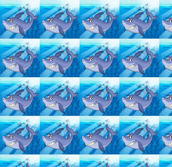 Vinylová Tapeta Žralok s ztroskotání - Vodní a mořský život