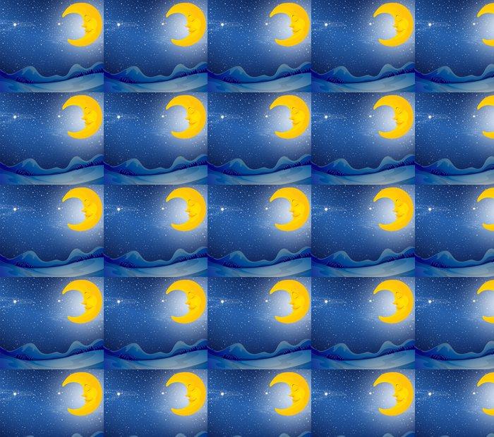 Vinylová Tapeta Spící měsíc - Nebe