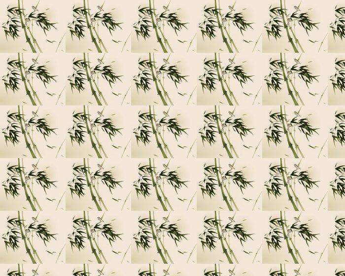 Vinylová Tapeta Orientální styl malby, bambusové větve - Styly