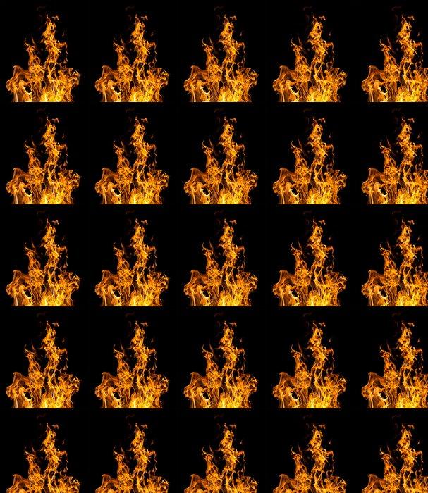 Vinylová Tapeta Oheň plameny na černé - Struktury