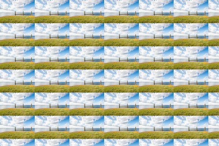 Vinylová Tapeta Dřevěné zakotvení v širokém ústí - Roční období