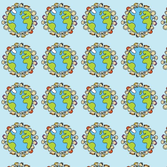 Vinylová Tapeta Děti na celém světě společně zachránit planetu Zemi - Pozadí