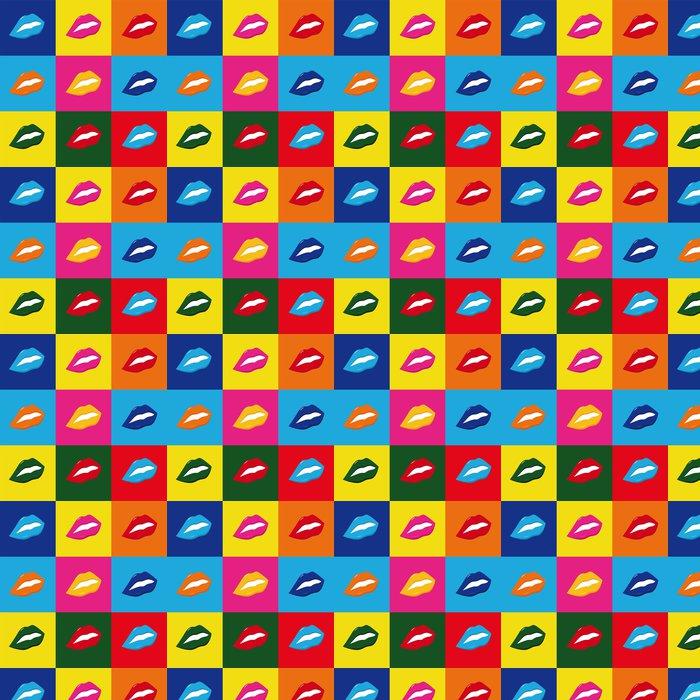 Vinylová Tapeta Pop art Lippen - Témata