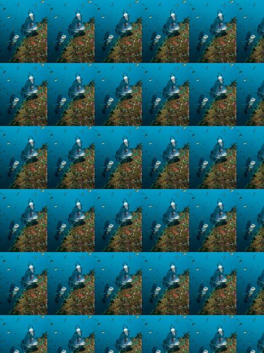 Vinylová Tapeta Brown Chrochtalové - Plectorhinus gibbosus - Vodní sporty