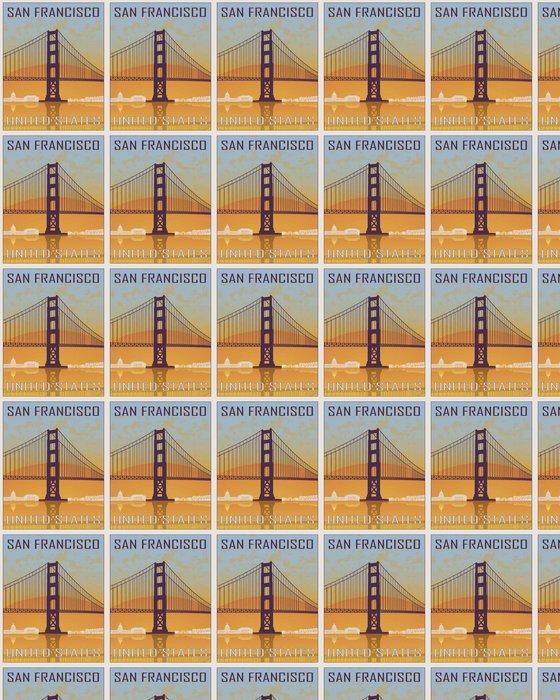 Vinylová Tapeta San Francisco ročník plakát - Cestování