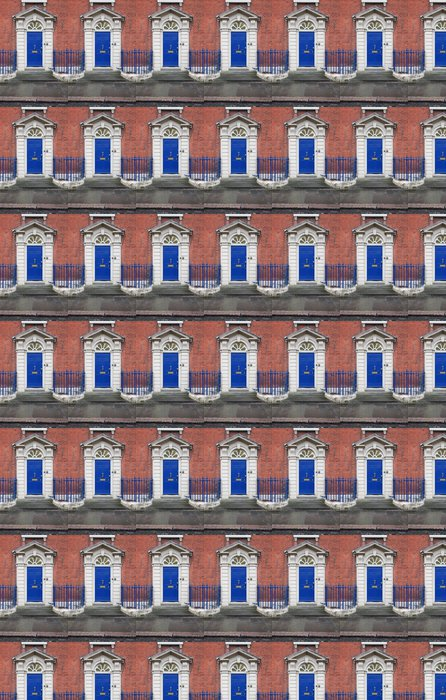 Vinylová Tapeta Modrý georgian dveře v Coventry - Památky