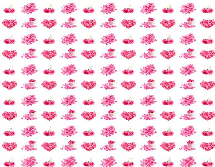 Vinylová Tapeta Rose a okvětní lístek izolovaných na bílém pozadí - Štěstí