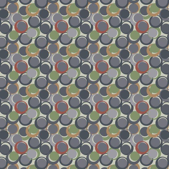 Vinylová Tapeta Retro šedé bezproblémové kruh pozadí - Umění a tvorba