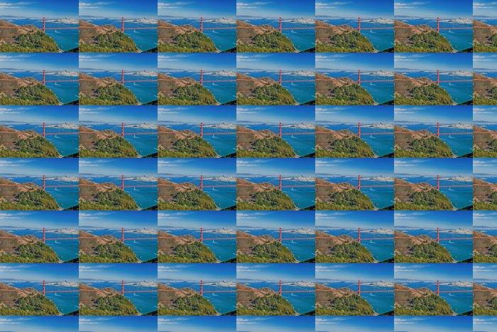 Vinylová Tapeta San Francisco Panorama w mostu Golden Gate - Americká města