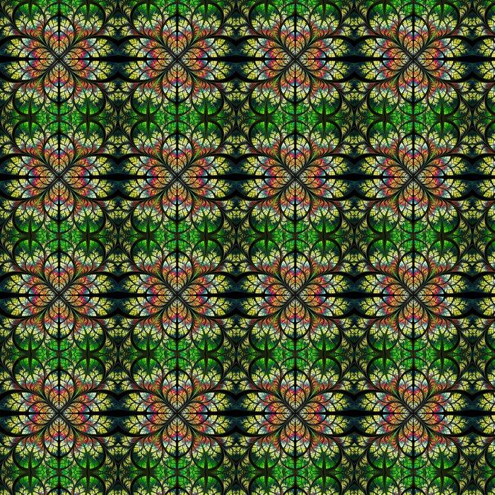 Vinylová Tapeta Symetrický fraktální vzor. Collection - strom zeleň. Green, y - Pozadí