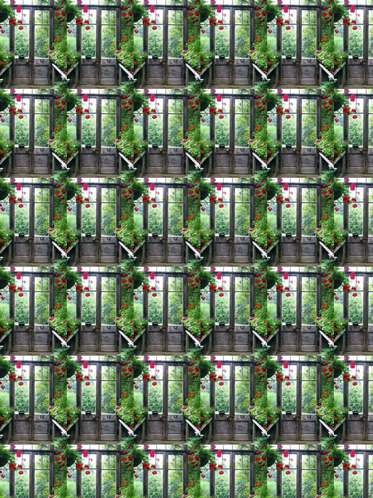 Vinylová Tapeta Zavřené dveře v tajné zahradě - Domov a zahrada