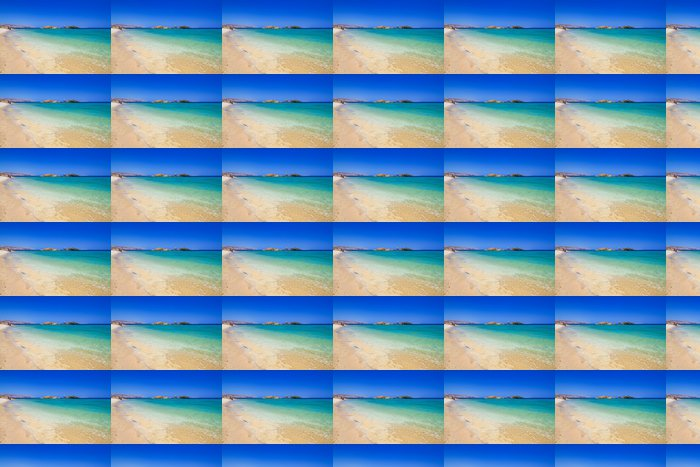 Vinylová Tapeta Vai pláž s modrou lagunou na Krétě, v Řecku - Evropa