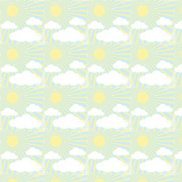 Vinylová Tapeta Vektorové grunge pozadí s slunce a mraky - Témata