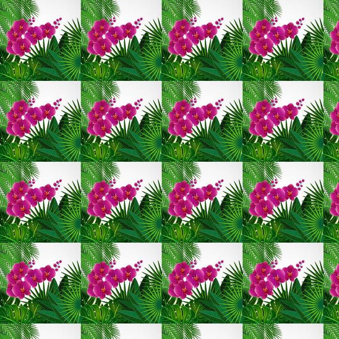 Vinylová Tapeta Květinový vzor na pozadí. Orchid květiny. - Pozadí