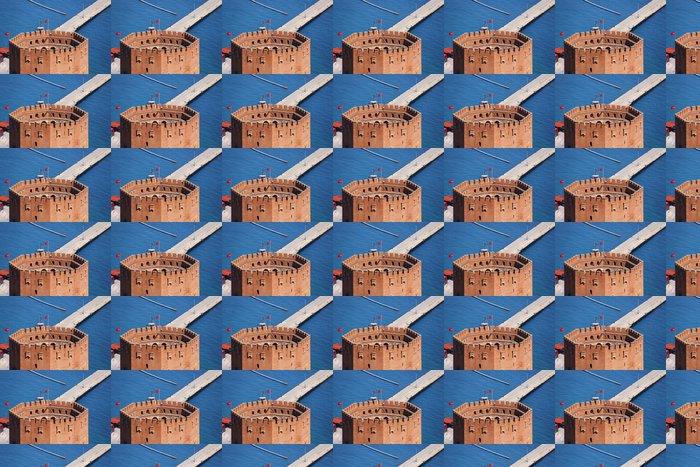 Vinylová Tapeta Port Alanya a červené cihly věží - Střední Východ
