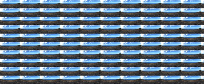 Vinylová Tapeta Panorama Coulee volcanique - Přírodní katastrofy