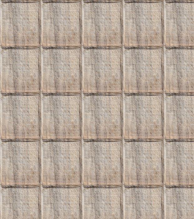 Vinylová Tapeta Detail starověkého latinského nápisu od Forum Romanum - Evropská města