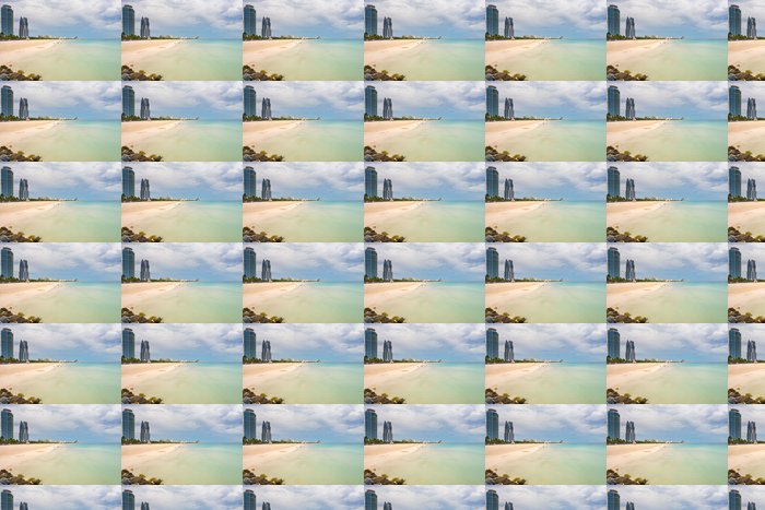 Vinylová Tapeta South Beach na zatažené obloze, Miami, Florida - Amerika