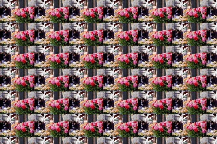Vinylová Tapeta Svazek růží prodávané na ulici v Paříži - Criteo